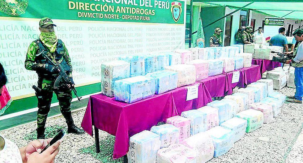 US$ 61 millones es el valor de la cocaína incautada