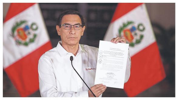 El presidente Vizcarra promulgó la nueva ley que prohíbe postular a los condenados en primera instancia.
