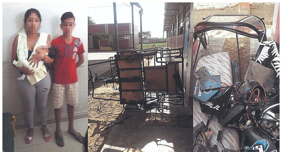 Intervienen a menores que desmantelaban mototaxi en colegio del distrito victoriano