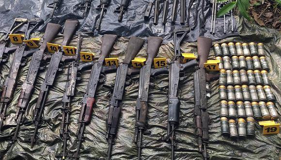 Colombia: incautan depósito de armamento de disidentes de las FARC