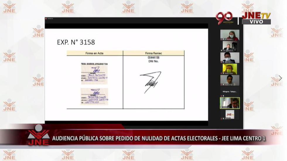 El Jurado Electoral Especial Lima Centro 1 evaluó esta mañana once pedidos desde los abogados de Fuerza Popular que buscaban anular la votación en diversas mesas electorales en países como Chile y Argentina, entre otros. (JNE)