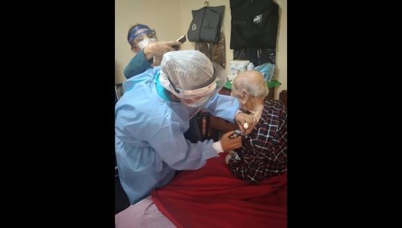 La Libertad: En la provincia de Trujillo se implementaron 13 puntos de vacunación para adultos mayores. (Foto: Geresa)