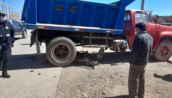 Accidente ocurrió en la avenida Circunvalación. (Foto: Feliciano Gutiérrez)
