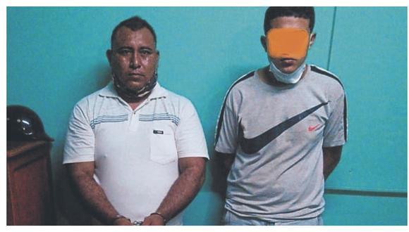 Germán Edú Calderón Távara quedó detenido y un menor fue retenido. El caso está a cargo de los agentes de Areandro de Tumbes.