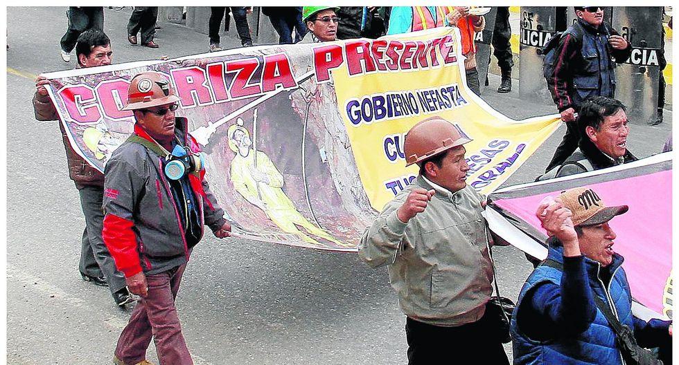 Trabajadores piden al Gobierno Central que se venda mina Cobriza