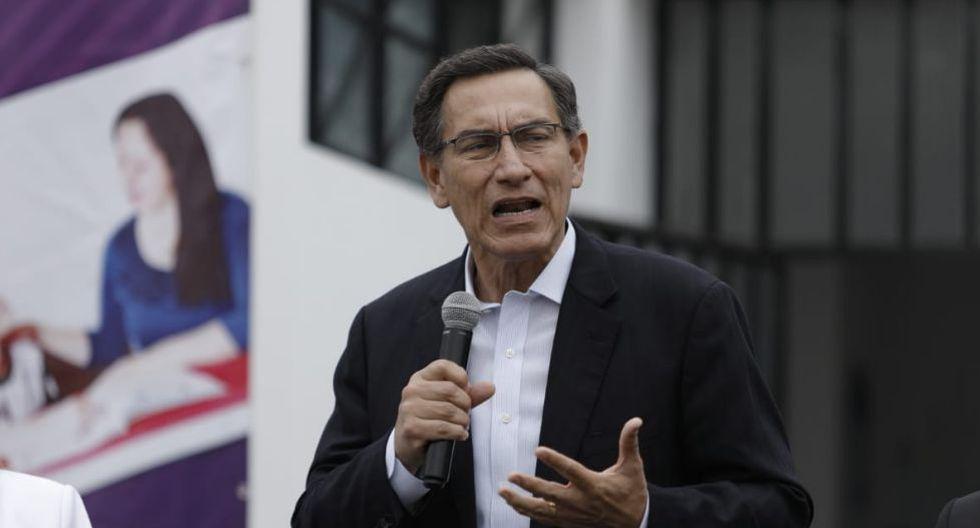Martín Vizcarra participó en la entrega de credenciales a los congresistas electos en San Borja. (Foto: GEC)