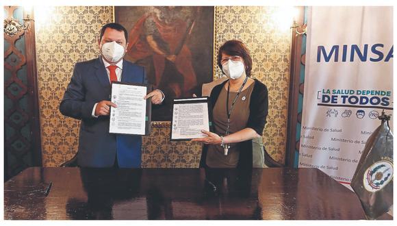 El gobernador regional y la ministra de Salud suscribieron acuerdo del hospital de Alta Complejidad, por S/926 millones.