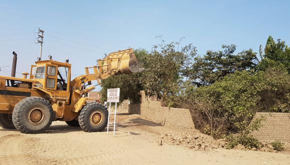 Invasores aprovecharon la emergencia sanitaria para levantar un muro en zona intangible situada en el distrito de Moche.