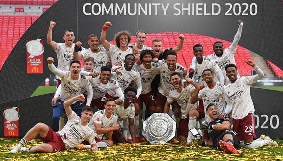 Arsenal se coronó en la Community Shield tras vencer al Liverpool en penales. (Foto: JUSTIN TALLIS / POOL / AFP)