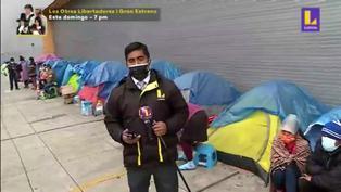 Familia vive hace dos meses en una carpa en los exteriores del Hospital del Niño en Breña