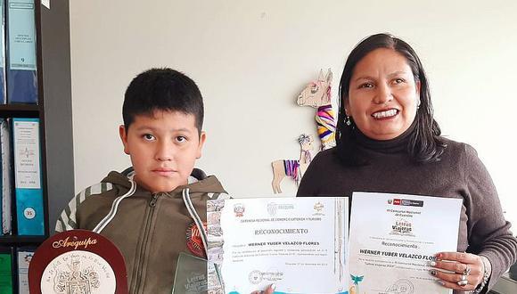 Niño de Yanahuara destacó en concurso nacional de cuentos