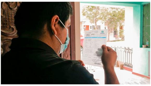 La nota informativa se entregará junto a los recibos de pago solo a clientes beneficiados con el subsidio. (Foto: Referencial)