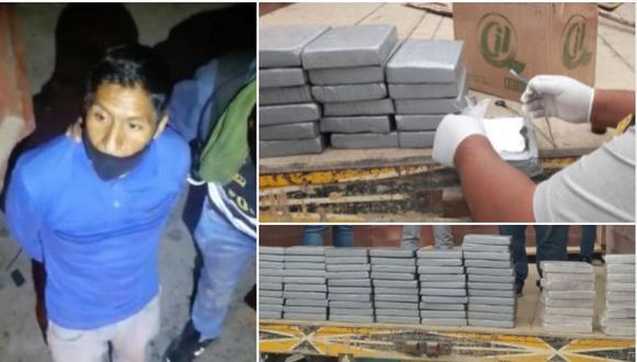 Conductor trasladaba 79 kilos de cocaína de Huancayo a Arequipa| Foto: PNP