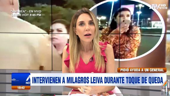Juliana Oxenford se refiere a la intervención de Milagros Leiva. (Foto: Captura ATV)