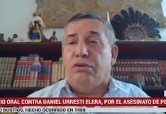 Poder Judicial concluirá interrogatorio a Daniel Urresti por el asesinato de Hugo Bustíos el 22 de junio