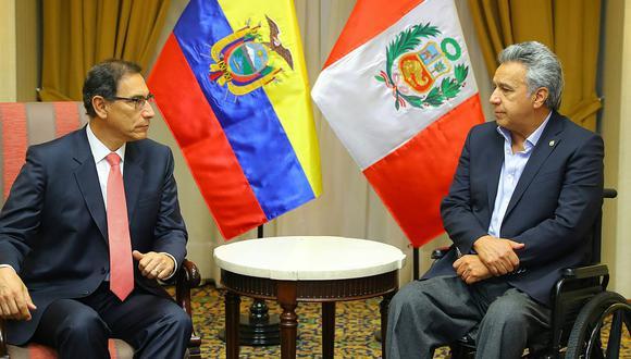 Presidente Vizcarra expresa su solidaridad con Lenín Moreno tras asesinato de periodistas ecuatorianos