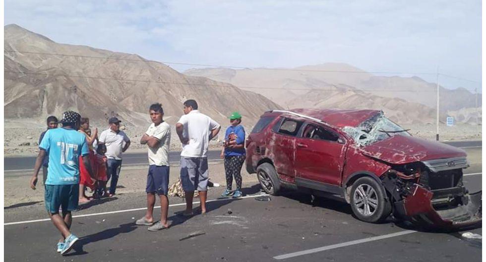 Accidente en Huarmey deja una persona fallecida. Fotos y texto: Corresponsal Paul Reyes