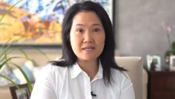 Lideresa de Fuerza Popular indicó que expondrá ante representantes de la OEA el requerimiento fiscal para suspender las actividades de su partido político en el marco de la investigación que se le sigue por el caso Odebrecht. (Foto: Captura de video)