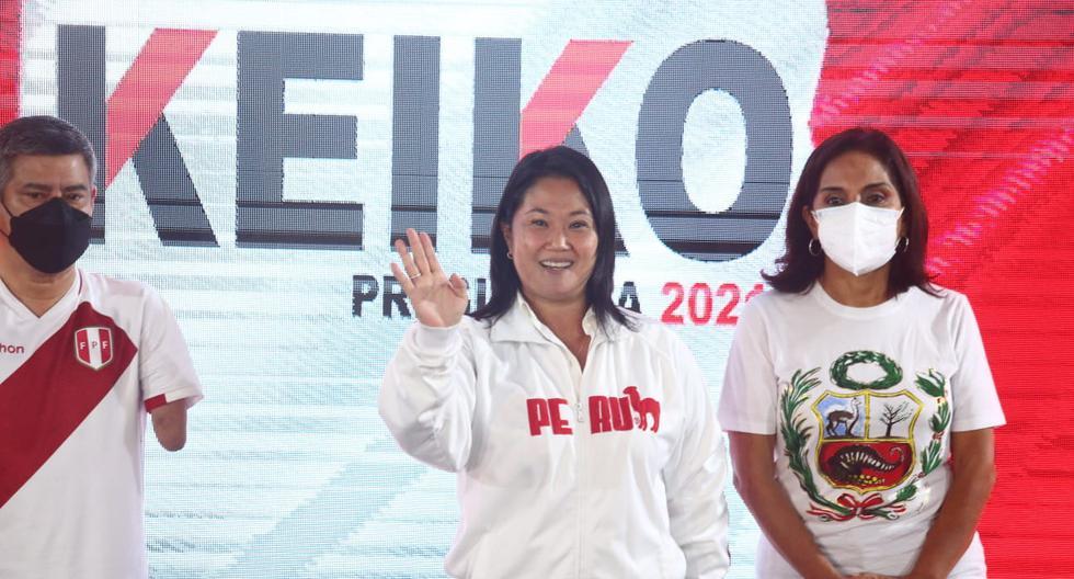Candidata de Fuerza Popular vence a su contendor de Perú Libre, Pedro Castillo, quien cuenta con 37.806% de votos válidos, según reporte de la ONPE al 86.965% de actas contabilizadas.