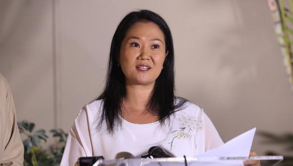 """La lideresa de Fuerza Popular indicó que la exclusión de su partido por parte del Poder Judicial sería una """"pena de muerte"""".  (Foto: GEC)"""