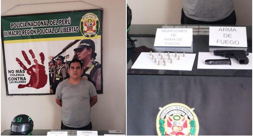 Cae con arma de fuego y municiones en Pueblo Nuevo