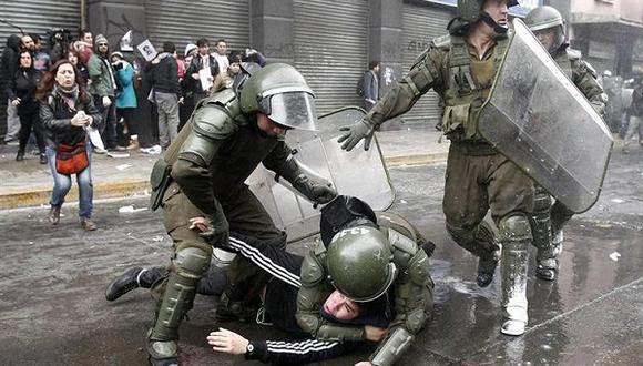 Jornada de protesta estudiantil en Chile se saldó con 172 detenidos