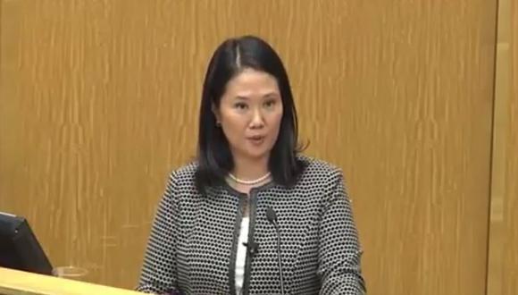 Keiko Fujimori admite que Factor K es de su partido Fuerza Popular (VIDEO)