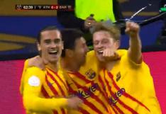 De Jong colocó el 2-0 con gol de cabeza en el Barcelona-Athletic Club (VIDEO)