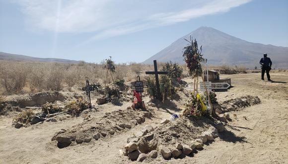 Por falta de recursos para pagar  en cementerios autorizados, familias deciden inhumar cuerpos en terrenos de la parte alta de Cayma