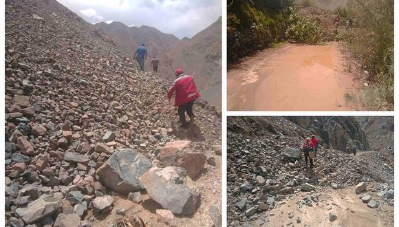 Distrito Héroes Albarracin queda incomunicado a causa de deslizamientos