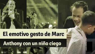 Marc Anthony le canta a un niño ciego en el día de su cumpleaños durante su concierto en Nueva York