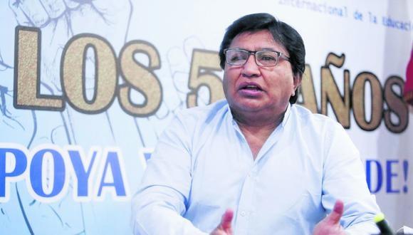 Lucio Castro señala que ha enviado solicitud a la ministra Betssy Chávez para que dé marcha atrás con aceptación del gremio