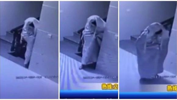 YouTube: ladrón se disfraza de fantasma para burlar seguridad pero todo termina mal (VIDEO)