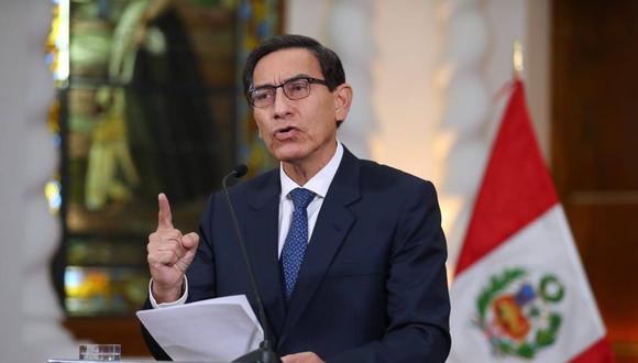 """Vizcarra indicó que la decisión del Parlamento """"no es desafiante ante el Gobierno si no con la nación, a pesar de la crisis sanitaria que vive por la pandemia del coronavirus."""
