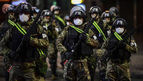 Militares están desplegados en La Paz. (Foto de RONALDO SCHEMIDT / AFP).