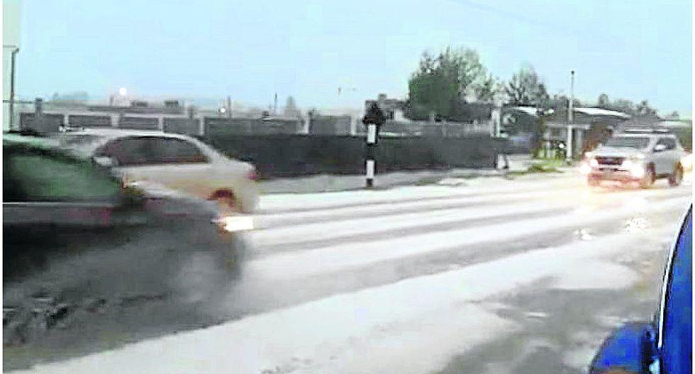 Granizadas preocupan a conductores en la Carretera Central
