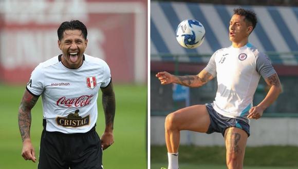 Yoshimar Yotún y Gianluca Lapadula hicieron un juego de penales en el Arena Pernambuco de Recife.  (Foto: Instagram @gianluca_lapadula_oficial / @yoshiyotun).