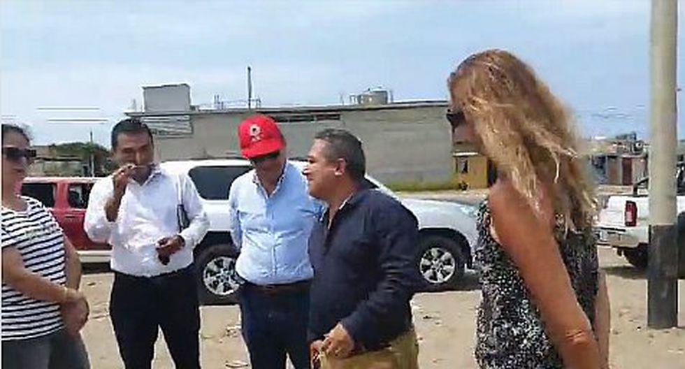 Natalia Málaga inspecciona terreno donde se ejecutaría importante obra deportiva