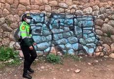 Revisan cámaras de vigilancia para dar con grafiteros que dañaron muro inca en Cusco (VIDEO)