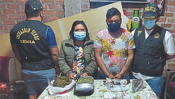 Otros tres bandidos trasladaban en un automóvil más de 2 kilos de PBC desde Chiclayo hasta Ferreñafe.