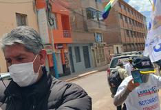 Trabajadores del hospital de Juliaca participaron en campaña proselitista
