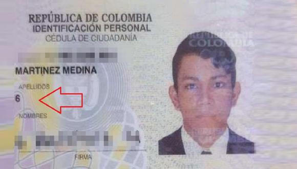 Martínez Medina también fue uno de los primeros en llevar al inicio el apellido materno em Colombia