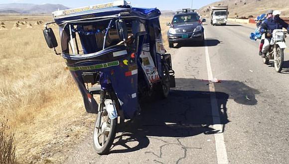 Accidente de tránsito deja dos heridos en la vía Interoceánica