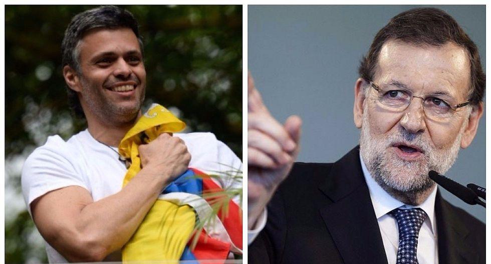 Leopoldo López: Mariano Rajoy habla con líder opositor y resalta su coraje