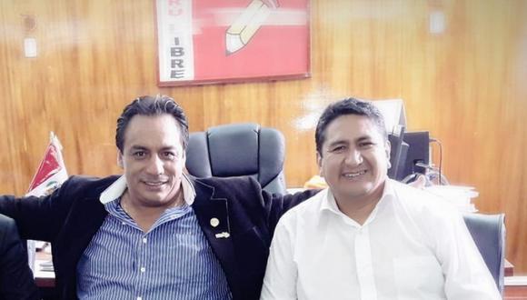 Secretario general de Perú Libre junto al alcalde de Satipo, Iván Olivera