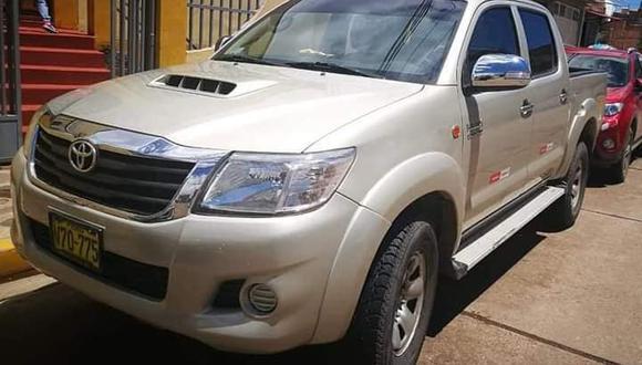 Camioneta que fue robada es de placa V70-775. (Foto: Difusión)