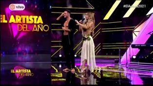 """Paula Manzanal aclara que no estaba planeado el beso con Fabio Agostini en """"El Artista del Año"""""""