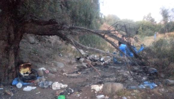 Arequipa: Policía y Medicina Legar identifican a hombre carbonizado hallado cerca a río Chili.