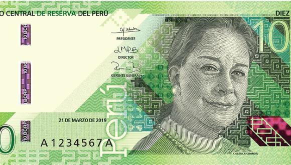 El billete con la imagen de Chabuca Granda forma parte de la nueva familia de billetes que ha sido diseñado por De La Rue International Limited. (Foto: BCR)