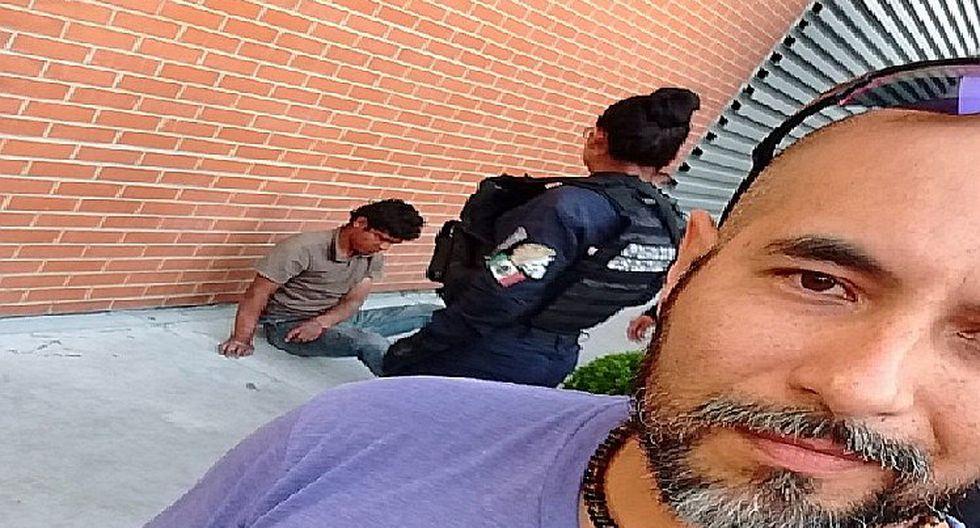 Ciclista noqueó a delincuente y se toma selfie (FOTOS)